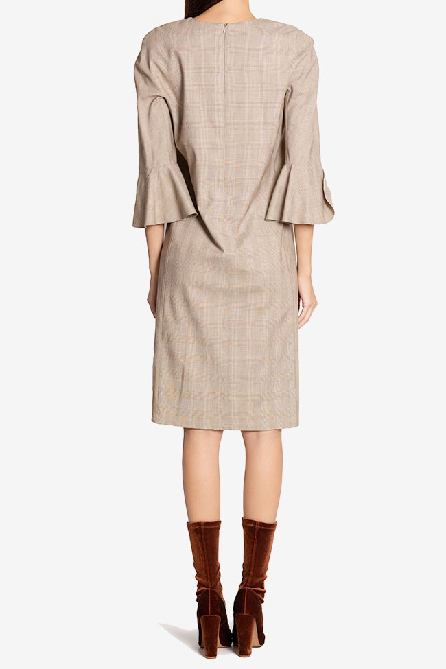 Emilie checked wool-blend midi dress Couture de Marie image 2