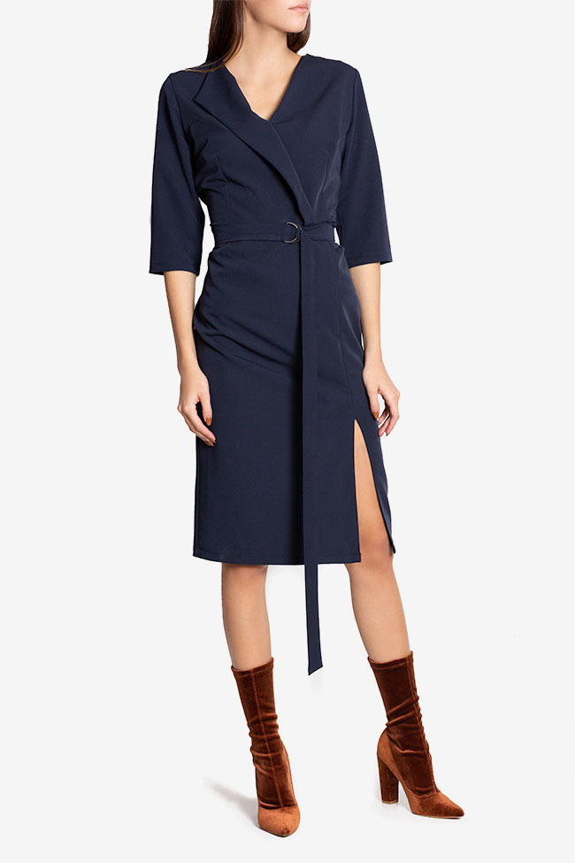 Mabel wrap-effect belted crepe midi dress Couture de Marie image 0