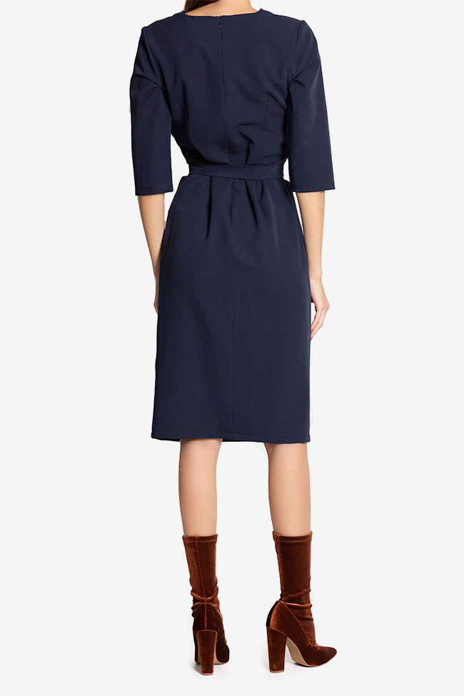 Mabel wrap-effect belted crepe midi dress Couture de Marie image 2