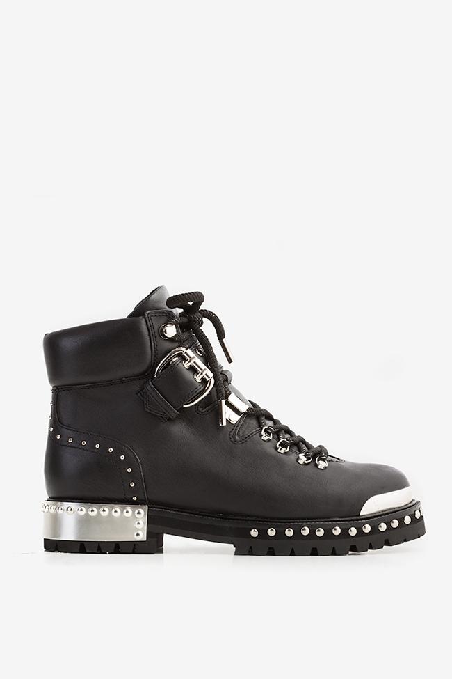MA' 2 buckled leather ankle boots  Mihai Albu image 0