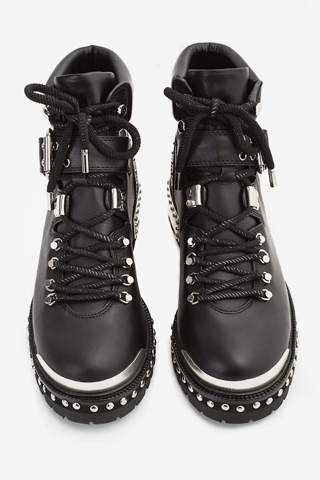 MA' 2 buckled leather ankle boots  Mihai Albu image 3