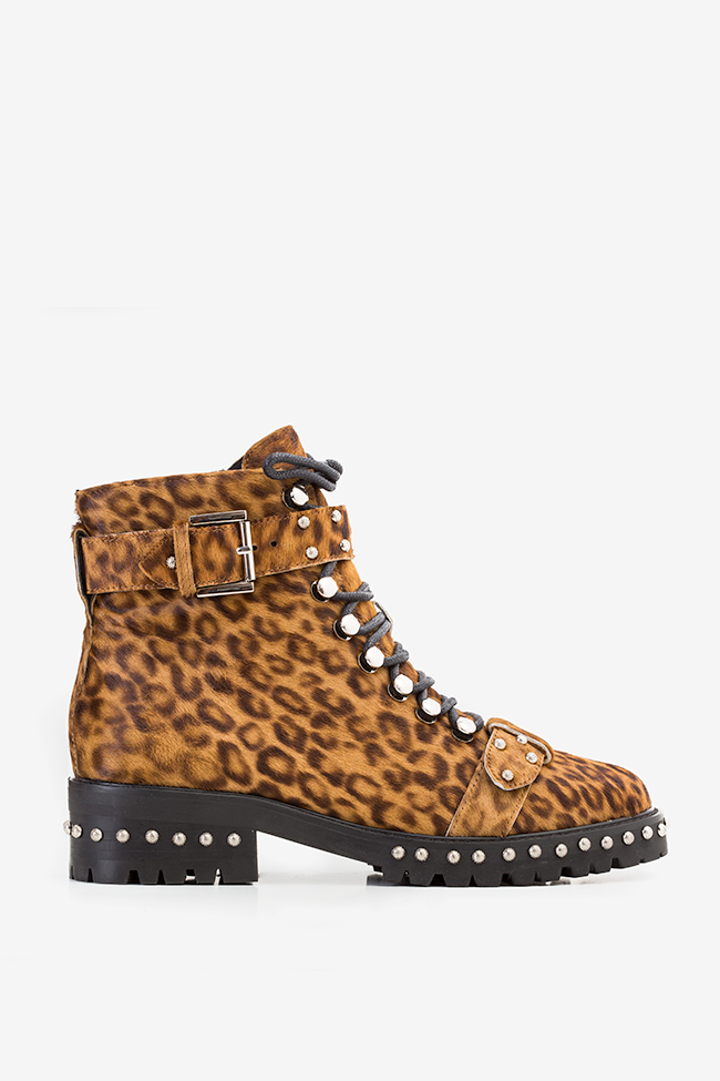 MA' 3 buckled leopard-print fur ankle boots  Mihai Albu image 0