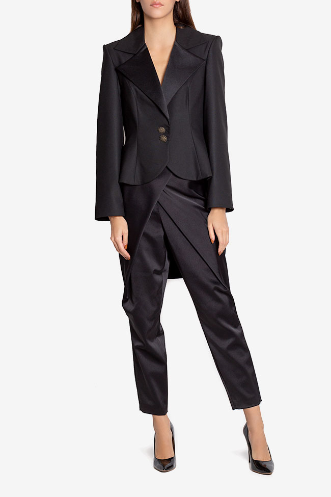 Pantalon en taffetas satiné avec plis Plic Ramona Belciu image 1