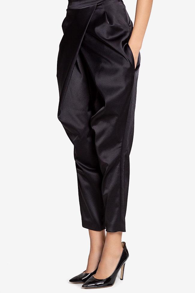 Pantalon en taffetas satiné avec plis Plic Ramona Belciu image 0