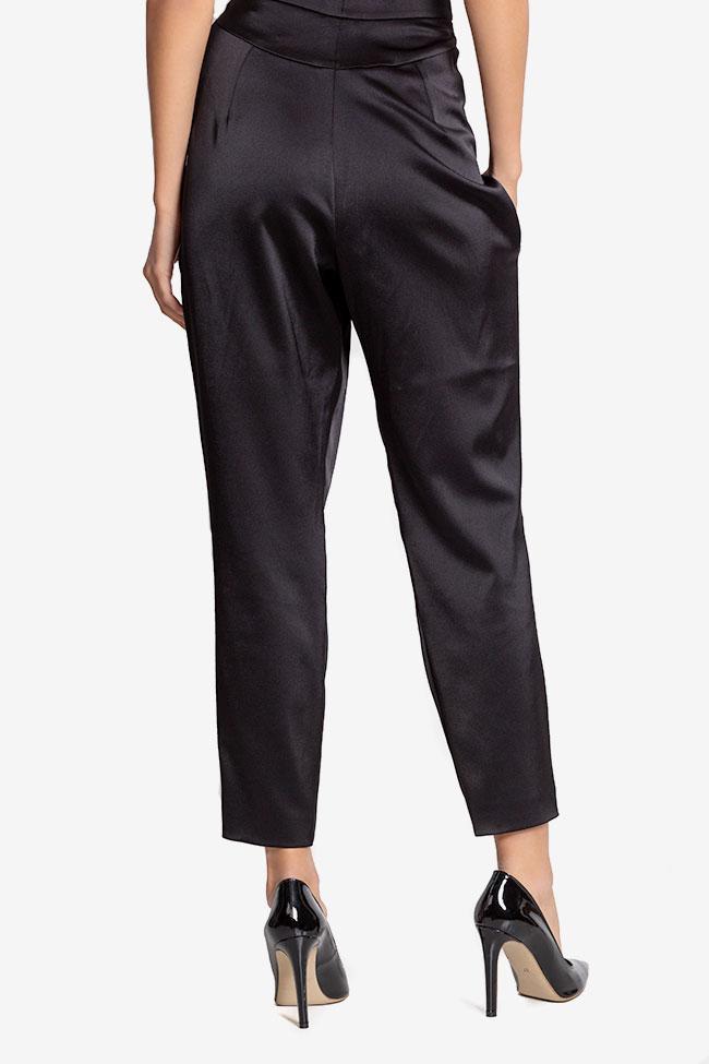 Pantalon en taffetas satiné avec plis Plic Ramona Belciu image 2