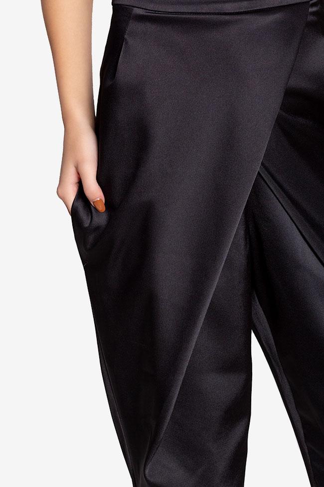 Pantalon en taffetas satiné avec plis Plic Ramona Belciu image 3