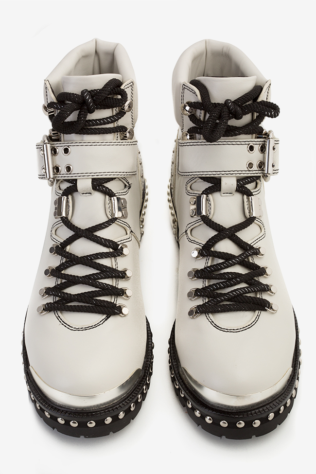 MA' 1 buckled leather ankle boots  Mihai Albu image 3