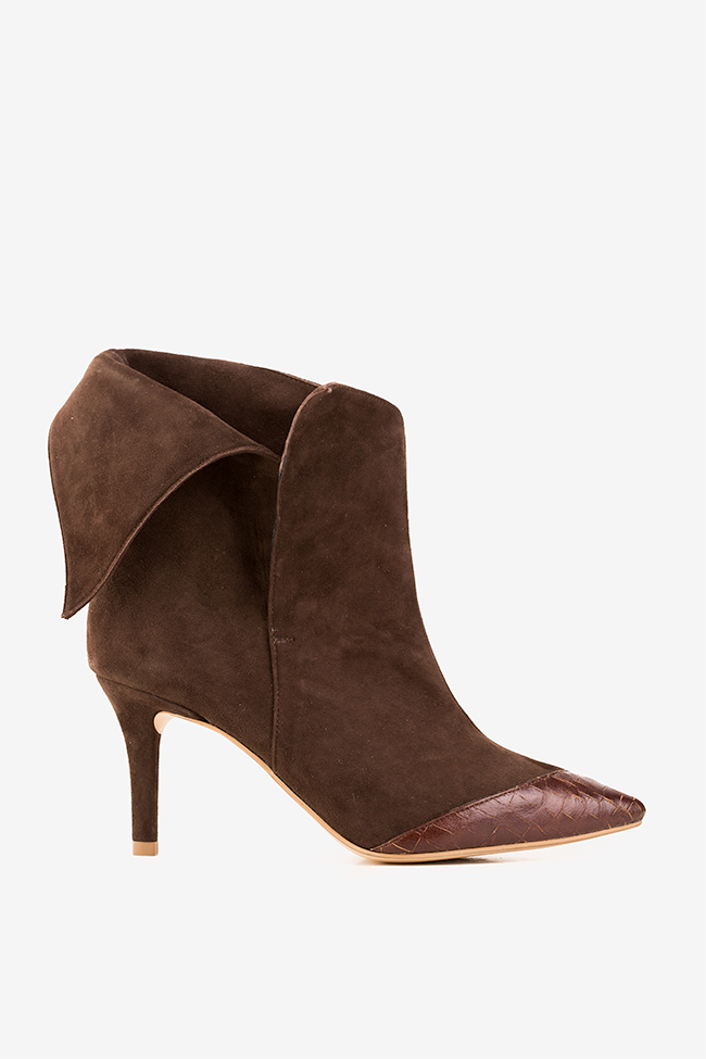Suede and leather ankle boots Hannami image 0