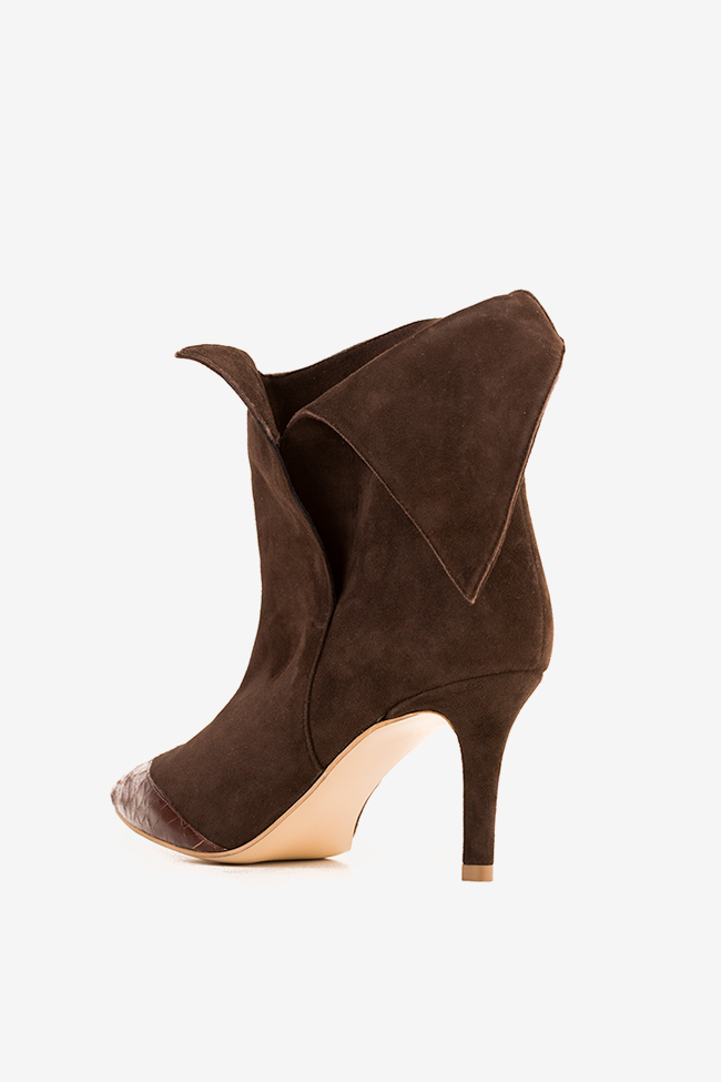 Suede and leather ankle boots Hannami image 1