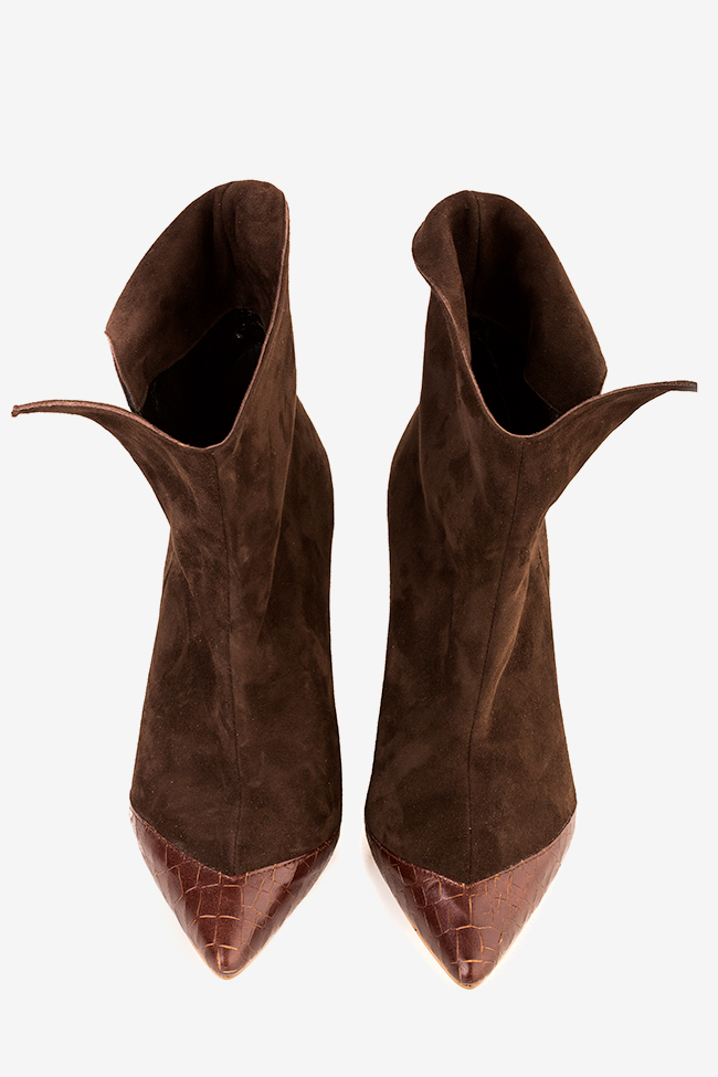 Suede and leather ankle boots Hannami image 3