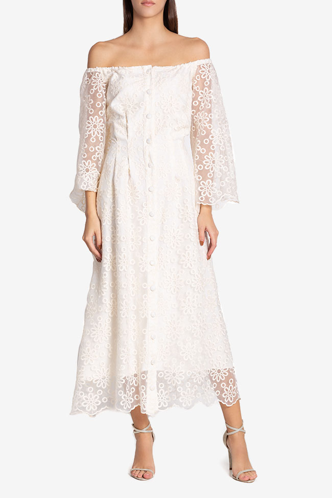 Off-the-shoulder lace maxi dress Izabela Mandoiu image 1