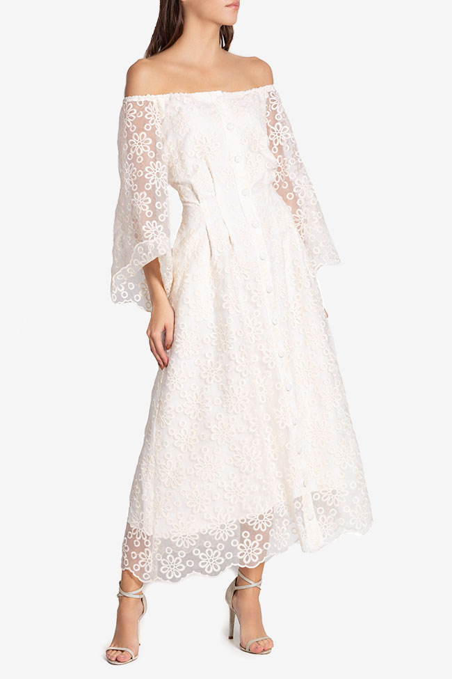 Off-the-shoulder lace maxi dress Izabela Mandoiu image 0