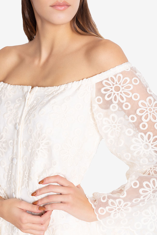 Off-the-shoulder lace maxi dress Izabela Mandoiu image 3