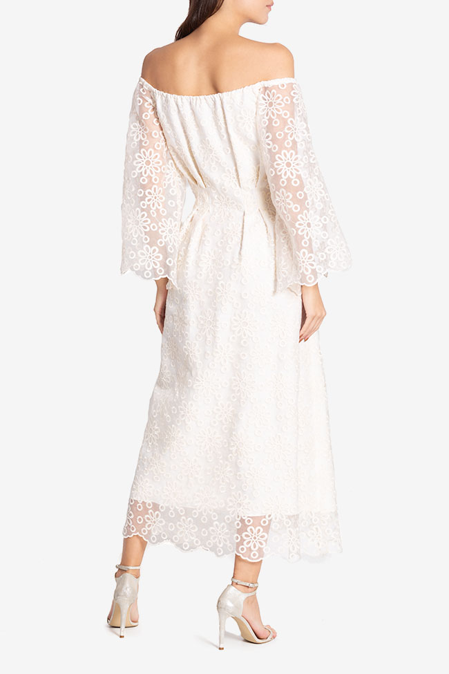 Off-the-shoulder lace maxi dress Izabela Mandoiu image 2