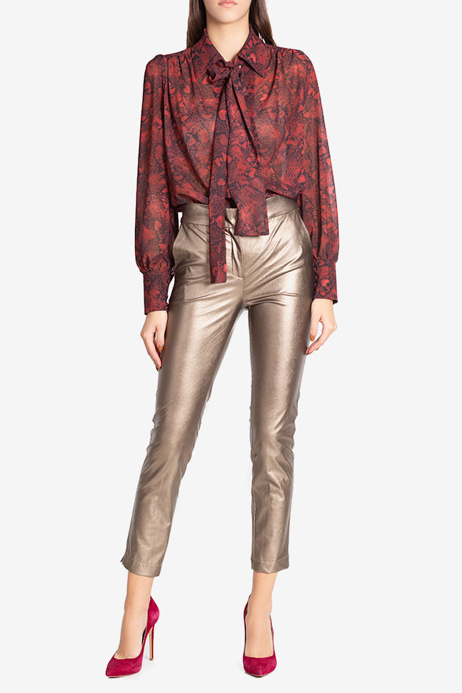 Russo faux-leather pants Arllabel Golden Brand image 1