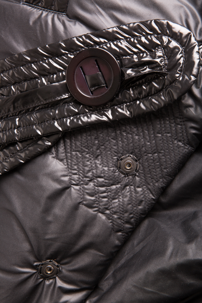 Down quilted glossed-shell coat Edita Lupea image 4