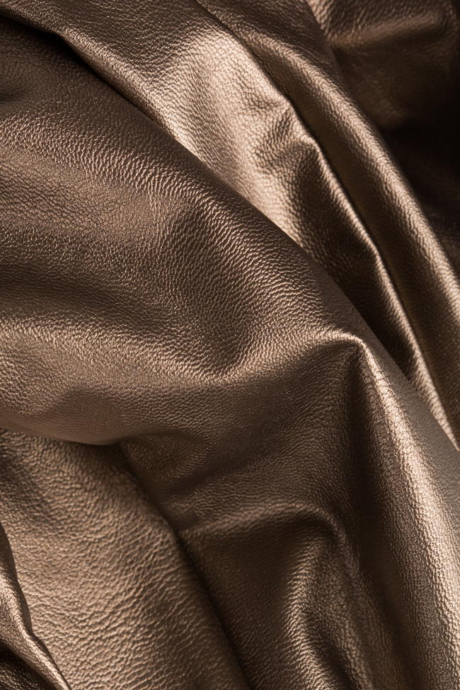Russo faux-leather pants Arllabel Golden Brand image 4