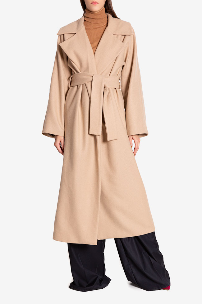 Oversized belted wool coat Cloche image 1