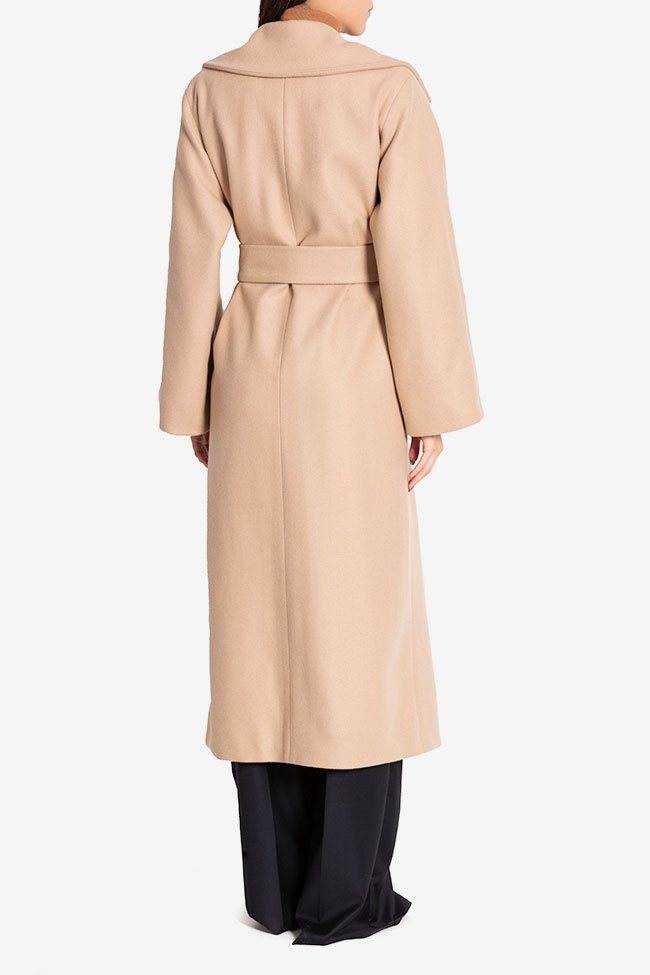Oversized belted wool coat Cloche image 2