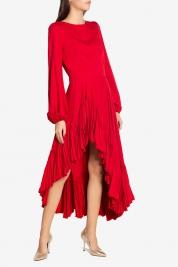 Cloche Robe asymétrique en crêpe