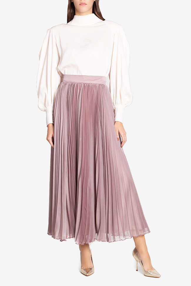 Silk-blend pleated skirt Cloche image 1