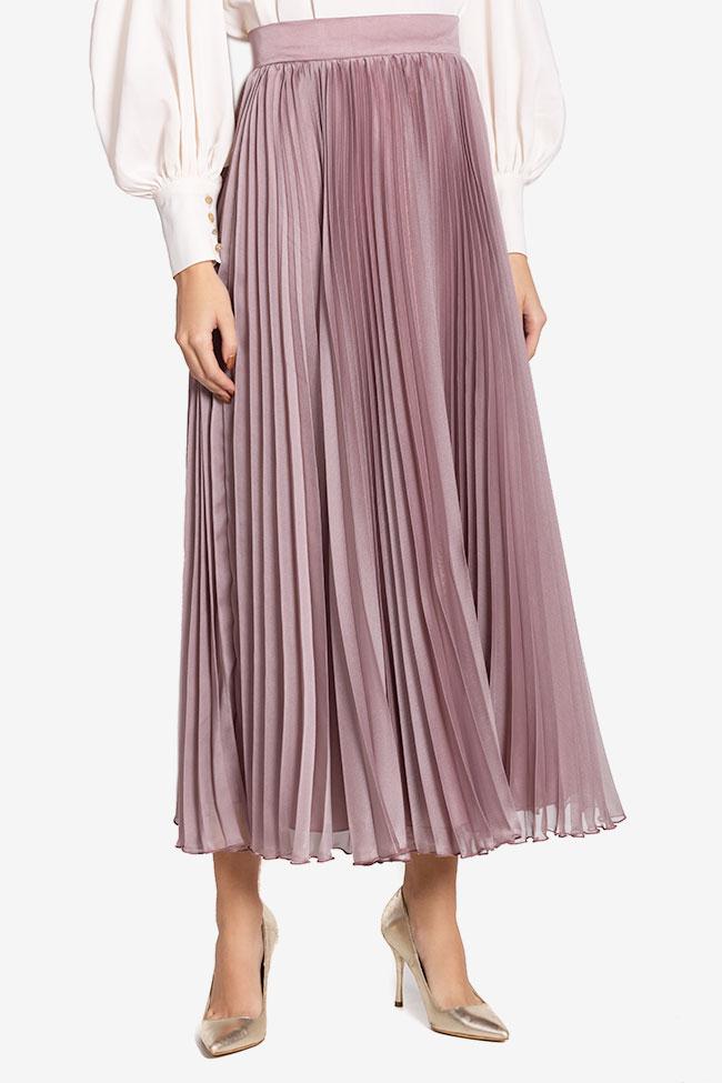 Silk-blend pleated skirt Cloche image 0