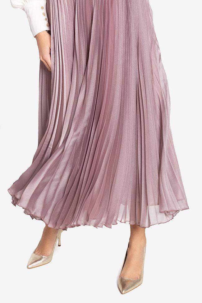 Silk-blend pleated skirt Cloche image 3