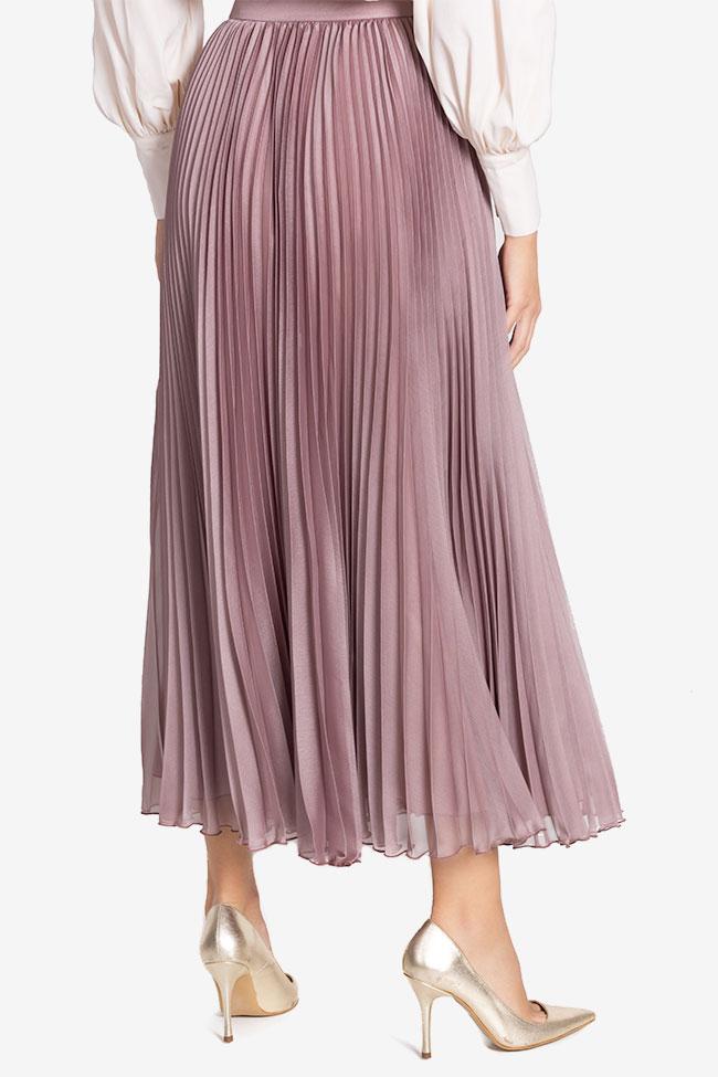 Silk-blend pleated skirt Cloche image 2