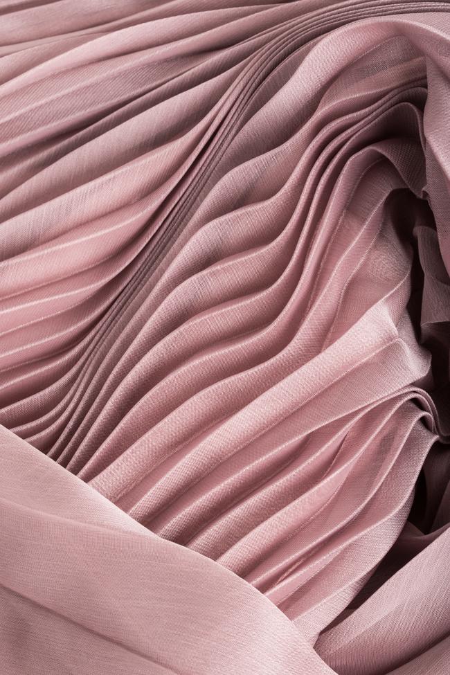 Silk-blend pleated skirt Cloche image 4