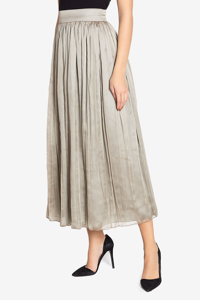 Silk-blend pleated skirt Cloche image 0