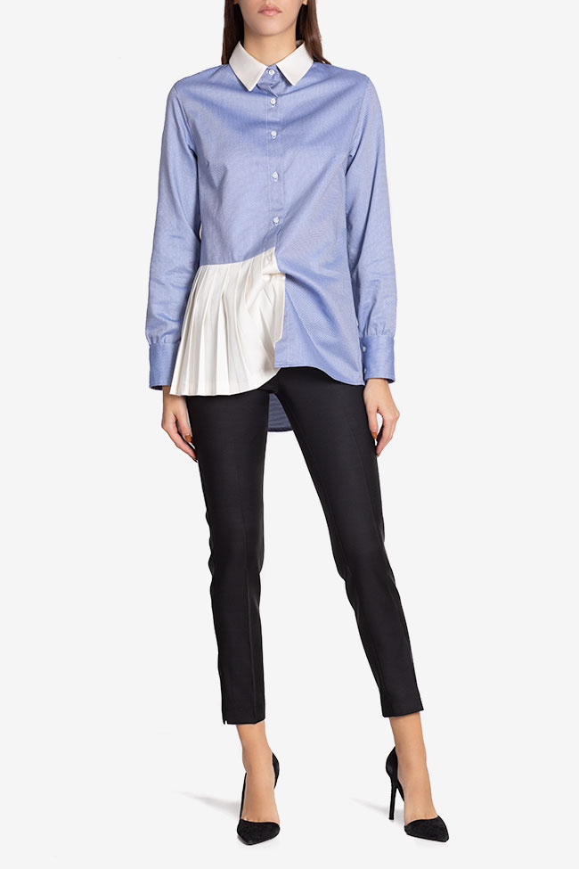 Quadrill silk cotton-blend pleated shirt Carmina Cimpoeru image 1
