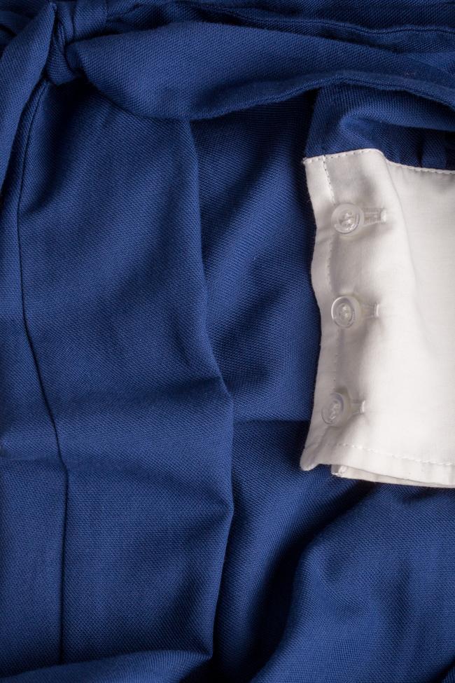 Robe asymétrique en mélange de laine et coton Azzure Carmina Cimpoeru image 4