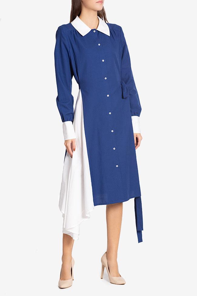 Robe asymétrique en mélange de laine et coton Azzure Carmina Cimpoeru image 0