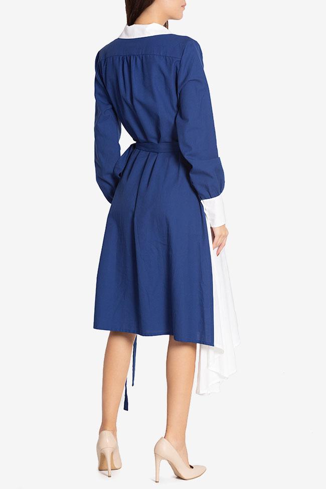 Robe asymétrique en mélange de laine et coton Azzure Carmina Cimpoeru image 2