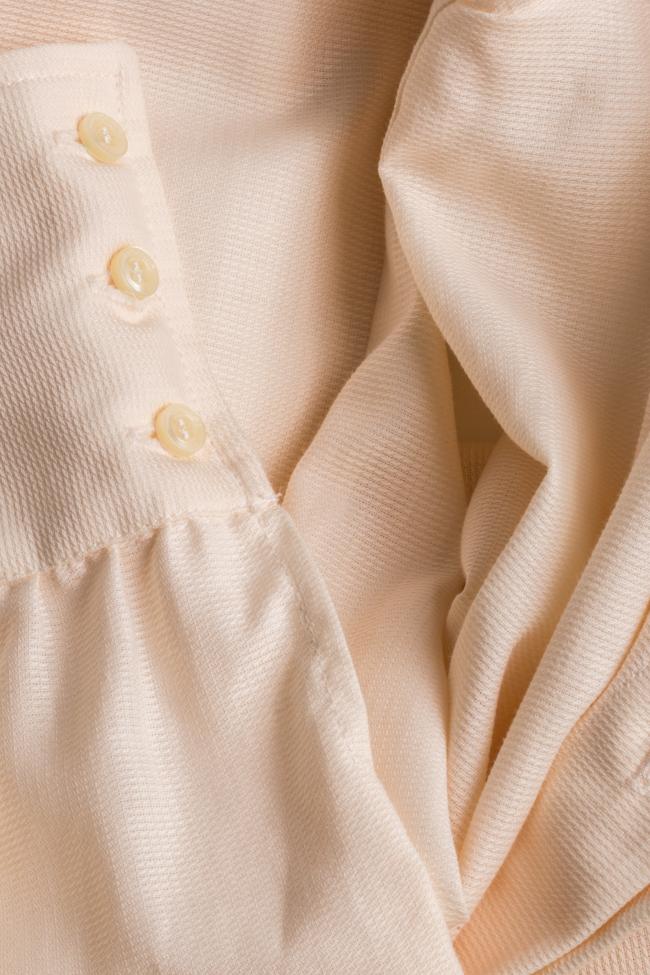 Robe asymétrique en mélange de soie et coton Pearl Carmina Cimpoeru image 4