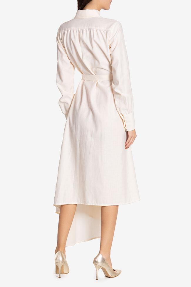 Pearl asymmetric silk cotton-blend dress Carmina Cimpoeru image 2