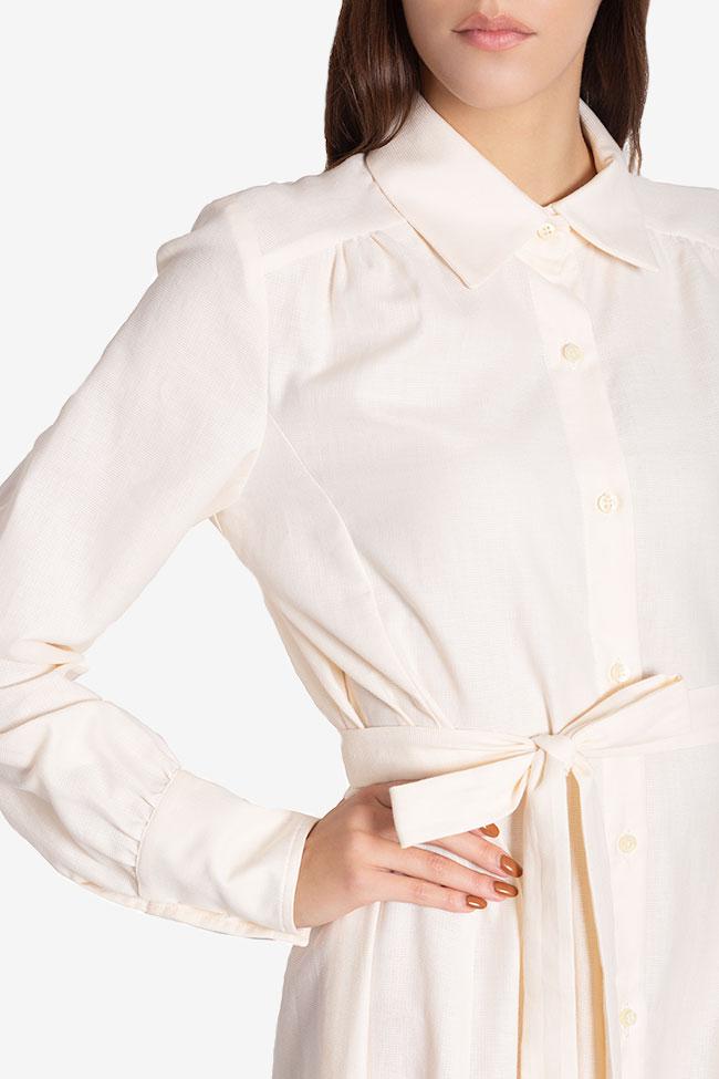 Pearl asymmetric silk cotton-blend dress Carmina Cimpoeru image 3