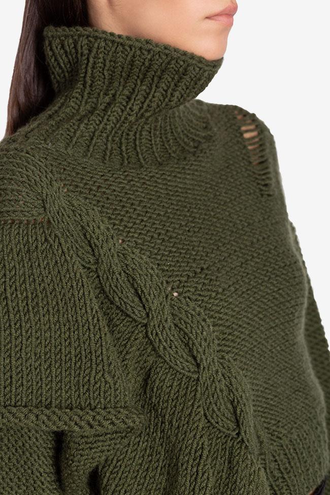 Pull court en laine avec volant asymétrique NARRO image 3