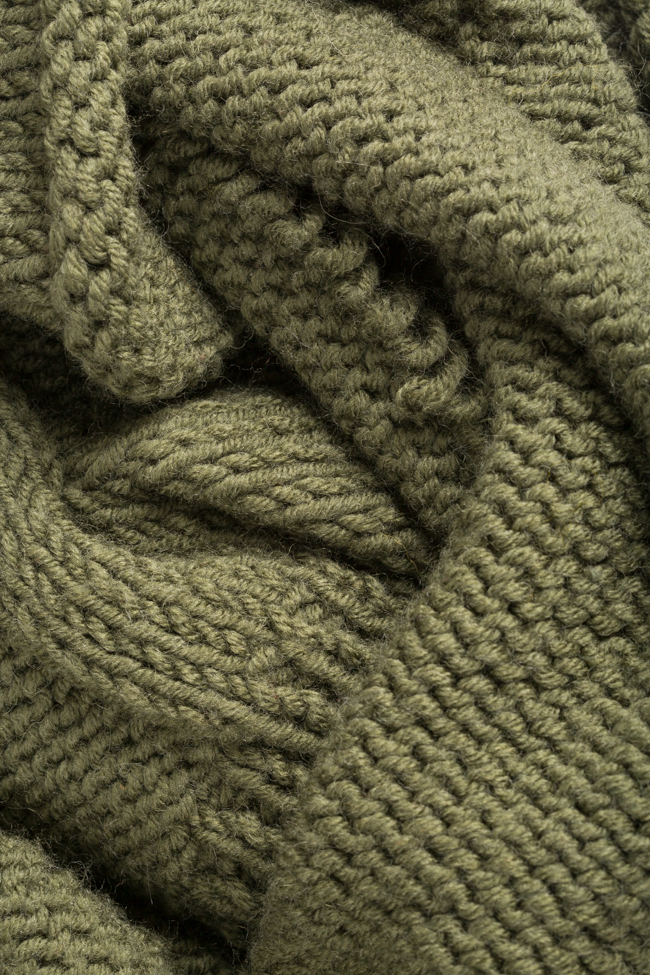 Pull court en laine avec volant asymétrique NARRO image 4