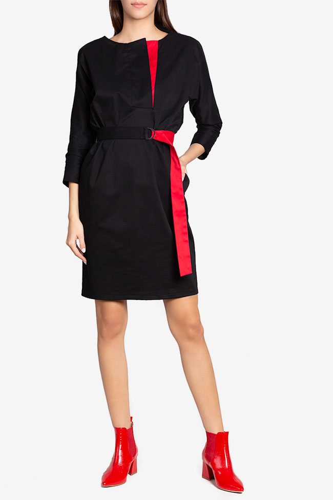 Tilly belted wrap-effect cotton midi dress Couture de Marie image 1