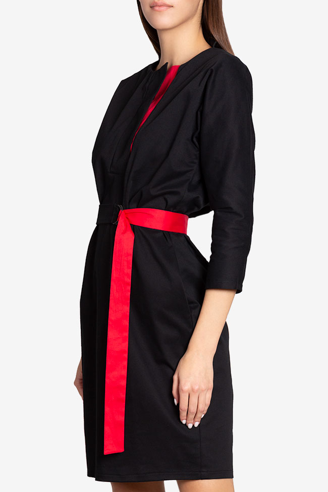 Tilly belted wrap-effect cotton midi dress Couture de Marie image 0