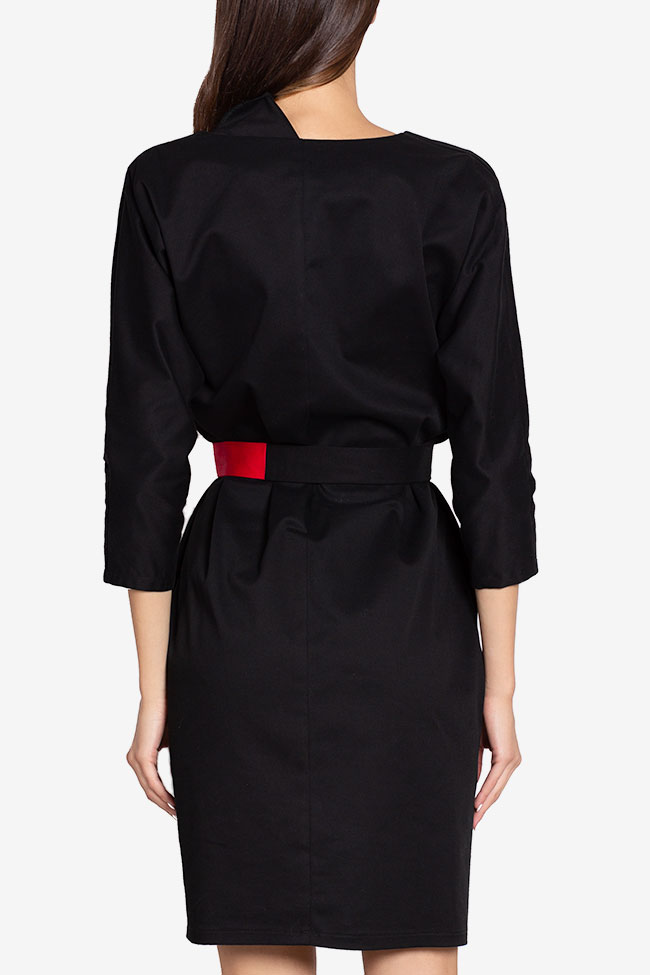 Tilly belted wrap-effect cotton midi dress Couture de Marie image 2