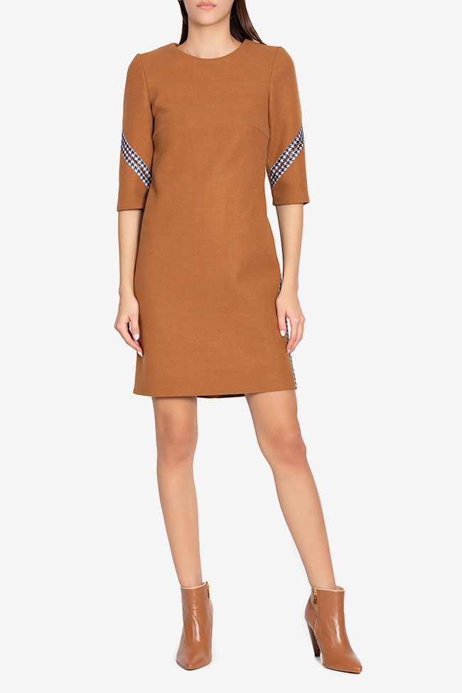 Embroidered mini wool dress Carmen Ormenisan image 1