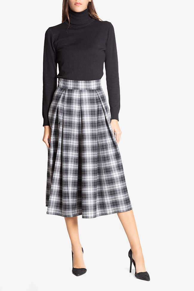 Checked wool midi skirt Cloche image 1