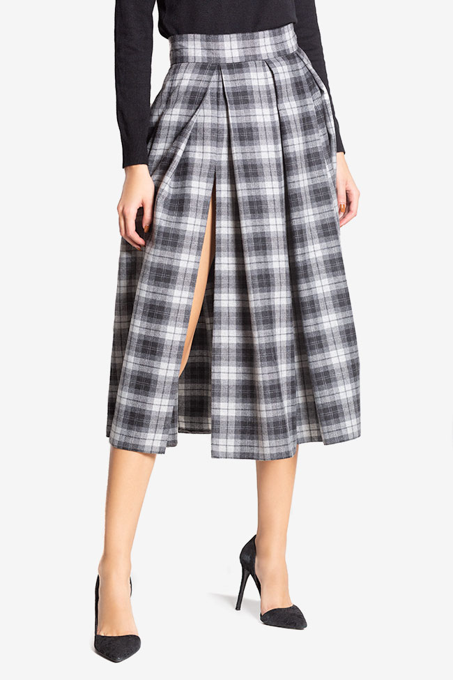 Checked wool midi skirt Cloche image 0