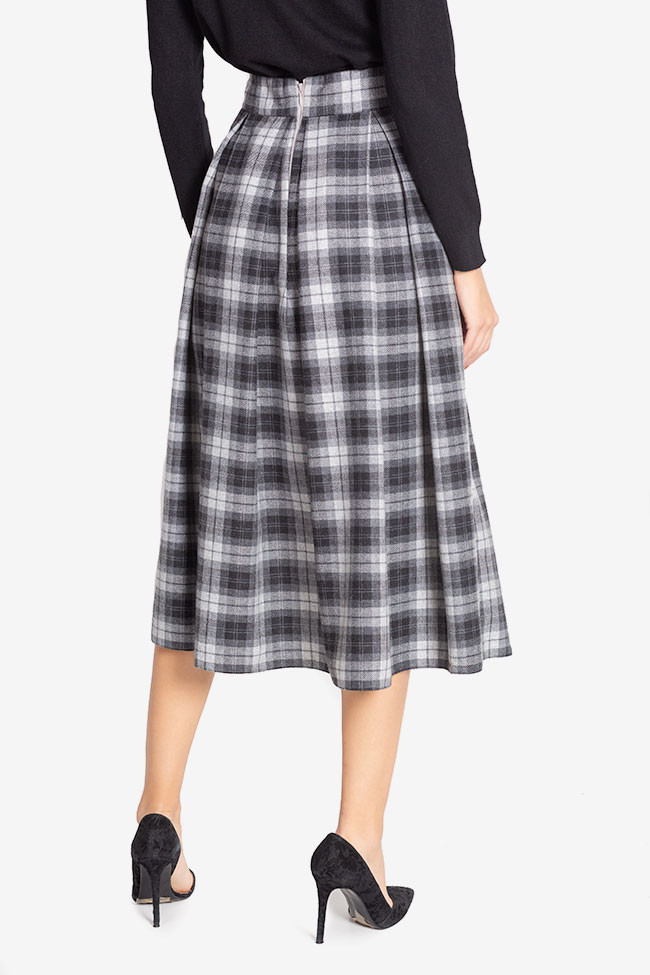 Checked wool midi skirt Cloche image 2