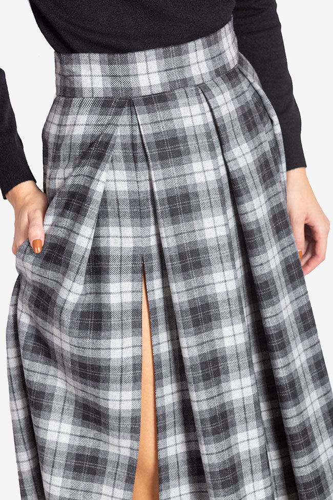 Checked wool midi skirt Cloche image 3