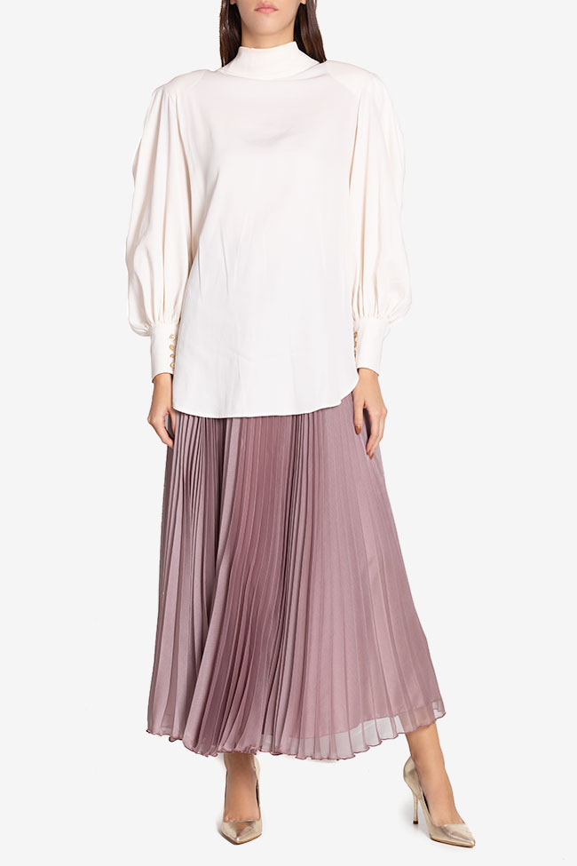 Tie-detailed silk-blend shirt Cloche image 1