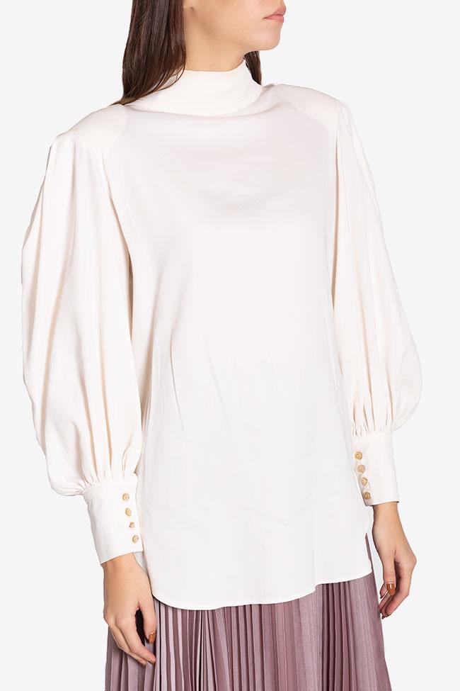 Tie-detailed silk-blend shirt Cloche image 0