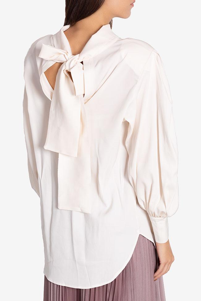 Tie-detailed silk-blend shirt Cloche image 2